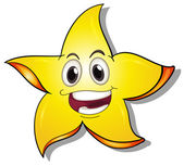 A smiling star — Stock Vector