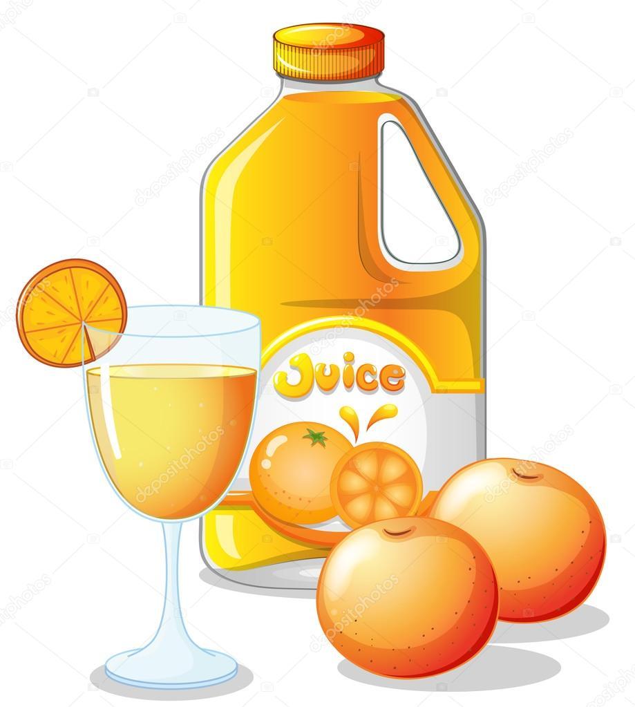 一杯橙汁在白色背景上的插图 — 矢量图片作者 interactimages