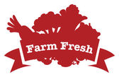 A farm fresh label — Stock Vector