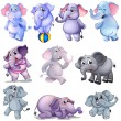 A group of elephants — Stock Vector