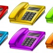 Colorful telephones — Stock Vector
