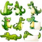 Eight scary crocodiles — Stock Vector #43275027