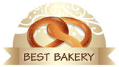 A bread with a best bakery label — Stock Vector