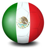 A soccer ball with the Mexican flag — Vettoriale Stock