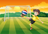 A female player kicking the ball from Thailand — Stock Vector