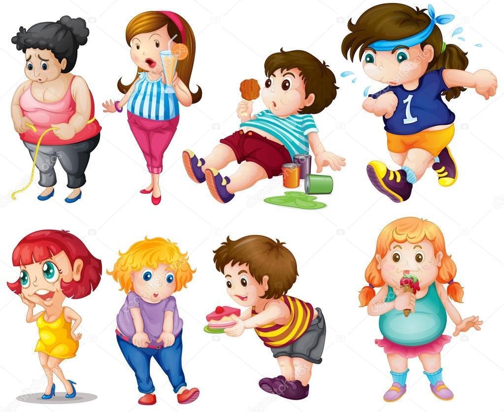 Рисованные толстые девушки 1 фотография