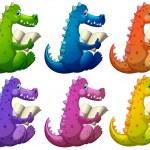 Colorful crocodiles reading — Stock Vector #43544527