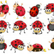 Cute ladybugs — Stock Vector #43544647