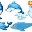 Playful dolphins — Stock Vector #43545873