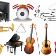Set of musical instruments — Stock Vector #43546317