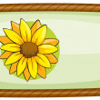 A frame with one flower — Stock Vector #43546857
