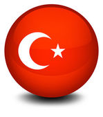 A soccer ball with the flag of Turkey — Stock vektor