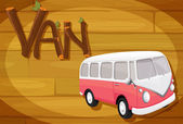 A frame with a van — Stock Vector
