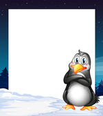 An empty template with a penguin — Stock Vector