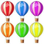 Colourful hot-air balloons — Stock Vector