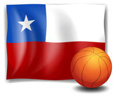 A ball in front of the flag of Chile — Stock Vector