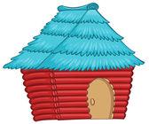 En färgstark infödda hus — Stockvektor