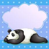 A sleeping bear with an empty callout — Stock Vector