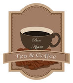 A tea and coffee label — Stock Vector