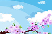 A view of the beautiful sky with clouds — Stock Vector