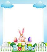 An Easter Sunday empty card template — Stock Vector