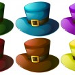 Six colourful hats — Stock Vector #43560611