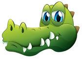 A head of a crocodile — Stock Vector