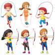 Kids with different hobbies — Stock Vector #44007111