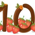 Ten strawberries — Stock Vector #44007219