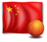 A ball in front of the Chinese flag — Stock Vector