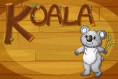A wooden frame with a koala — Stock Vector