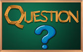 A blackboard with a question mark — Stock Vector
