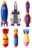 Cohetes explosivos — Vector de stock