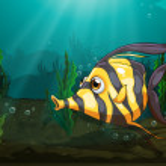 A big fish under the sea — Stock Vector #45563803