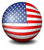 A ball with the USA flag — Stock Vector