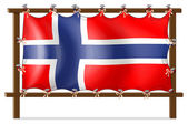 A frame with the flag of Norway — Stock Vector