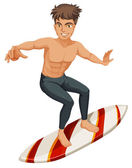 A man surfing — Stock Vector