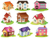 Different houses — Stock Vector