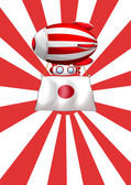 A floating balloon with the flag of Japan — Stock Vector