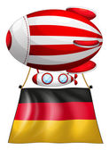 A floating balloon with the flag of Germany — Stock Vector