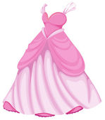 A beautiful pink dress — Stock Vector