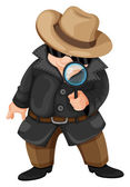 A fat detective — Stock Vector