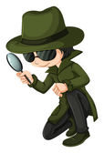 A smart young detective — Stock Vector