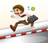 A man running hurriedly — Stock Vector