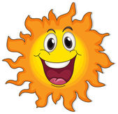 A very happy sun — Stock Vector