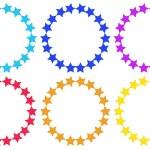 Circles made of stars — Stock Vector #46487803