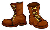 A pair of brown boots — Stock Vector