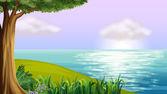 A clear blue sea — Vettoriale Stock
