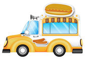 A vehicle selling buns and hotdogs — Stock Vector
