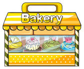 A bakery stall — Stock Vector
